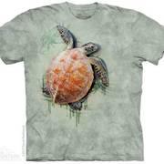 Футболка с изображением из водного мира Sea Turtle climb