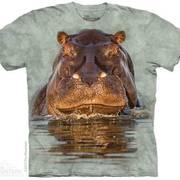 Футболка с изображением животных Hippo