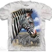 Футболка с лошадью Zebra Portrait
