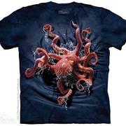 Футболка с изображением из водного мира Octopus Climb