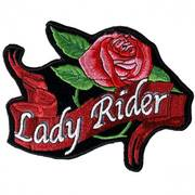 Lady Rider Rose Banner Patch Big