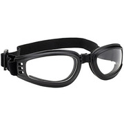 Мотоочки Foldable Black Goggles Clear Lens