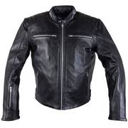 Кожаная мотокуртка Xelement 'Recoil' Men's Black Leather Motorcycle Jacket