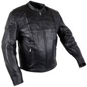 Куртка 'Turbulent' Men's Black Armored Leather Motorcycle Jacket