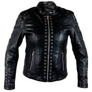 'Raven' Ladies Black Cowhide Leather Jacket