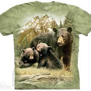 Футболка с медведем Black Bear Family