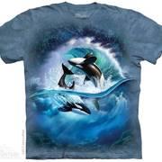 Футболка с изображением из водного мира Orca Wave