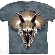 Футболка с изображением  динозавров Triceratops Skull
