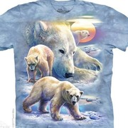 Футболка с медведем Sunrise Polar Bear Collage