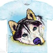 Футболка с собакой Russo Siberian Husky T-Shirt