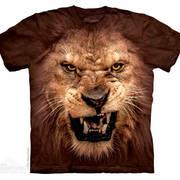 Футболка со львом Big Face Roaring Lion