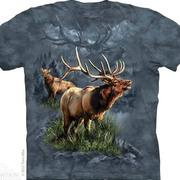 Футболка с оленем/лосём Elk Protector