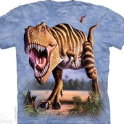 Футболка с изображением  динозавров Striped Rex