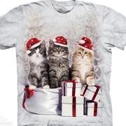 Рождественская футболка Presents Cats