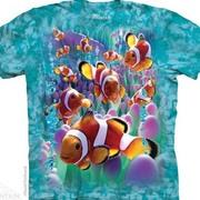 Футболка с изображением из водного мира Clownfish