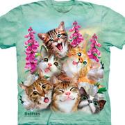 Футболка с кошкой Kittens Selfie