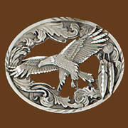 Ременная пряжка Flying Eagle Diamond Cut