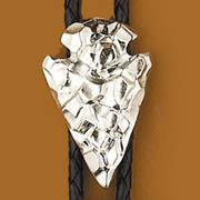 Галстук боло Silver Arrowhead Bolo Tie