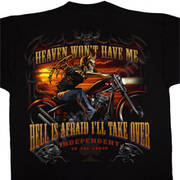 Футболка для байкеров Heaven & Hell