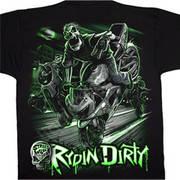 Футболка с коротким рукавом для байкеров Rydin Dirty