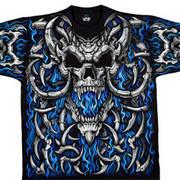 Blue Flame Skull