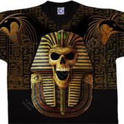 Футболка с изображением черепов и коротким рукавом Egyptian