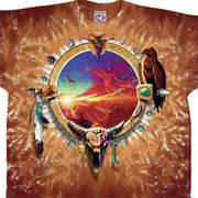 Футболка с изображением индейцев Canyon Sunset