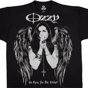 Футболка с эмблеммой рок певца Ozzy Osbourne и коротким рукавом Dark Angel
