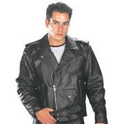 Кожаная мотокуртка Biker Motorcycle Jacket