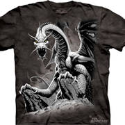 Футболка фэнтези Black Dragon