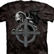 Футболка фэнтези Celtic Cross Dragon
