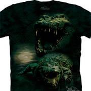 Футболка с картинкой рептилии/амфибии Dark Gator