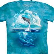 Футболка с дельфином Dolphin Sky