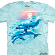 Футболка с дельфином Детская Dolphin Sunset