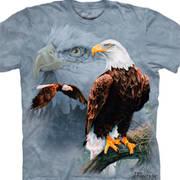 Футболка с коллажем про животных Eagle Collage
