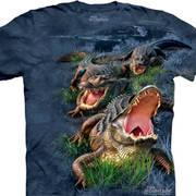 Футболка с картинкой рептилии/амфибии Gator Bog