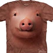 Футболка с мордой свиньи Pig Face