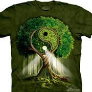 Этническая футболка Yin Yang Tree