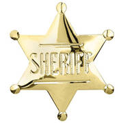 Sheriff Badge Gold
