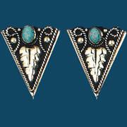Уголок на рубашку German Silver Turquoise