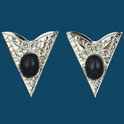 Black Stone Collar Tips