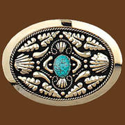 Ременная пряжка Turquoise German Silver