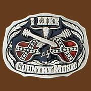 Ременная пряжка I Like Country Music