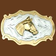 Ременная пряжка Horsehead German Silver