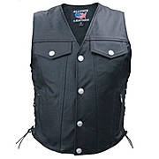 Жилет Vest Leather Denim Style