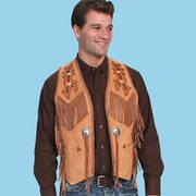 Кожаный жилет Bourbon  Cowboy Style