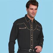 Хлопковая рубашка Black Wild West Style