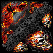Бандана Burning Skull Eagle