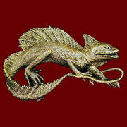 Iguana Belt Buckle