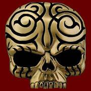 Tattoo Tribal Skull Gold